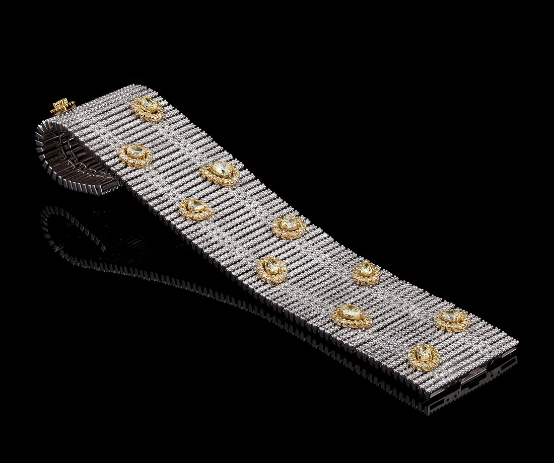 Broad Diamond Bracelet