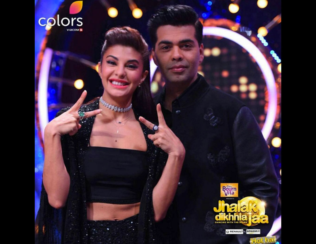 Jacqueline Fernandez Sparkles In A Marquise Diamond Choker _ Cocktail Rings From Diamantina For Jhalak Dikhhla Jaa 2016