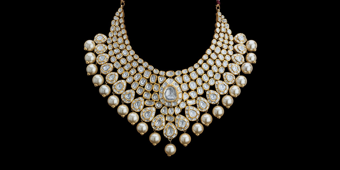 Royal Jadau and Pearl Necklace